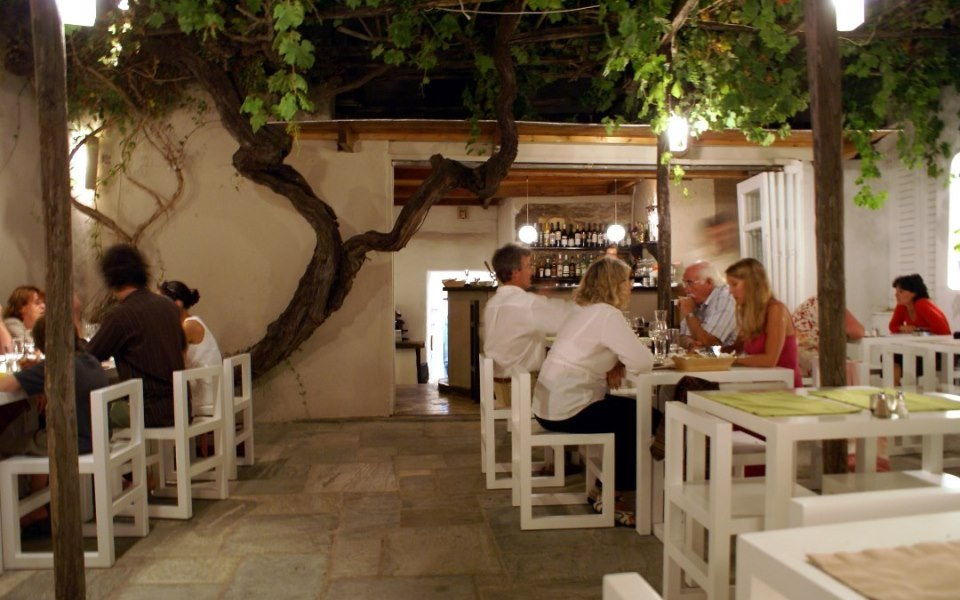 Eating out on Paros
